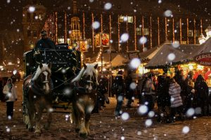 Carriage Ride at the Dickens Christmas Market in Saskatchewan
