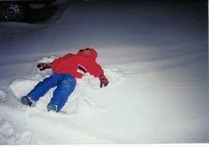Making a Snow Angel in Regina, Saskatchewan