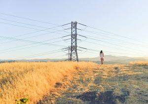 Power Lines in Regina Saskatchewan