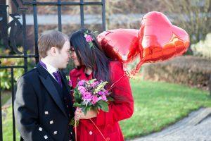 Helium Balloons on Valentines Day