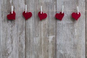 Garland of Hearts on Valentines Day