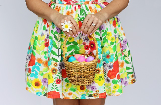 A Girl Holding an Easter Basket Ready for an Easter Egg Hunt