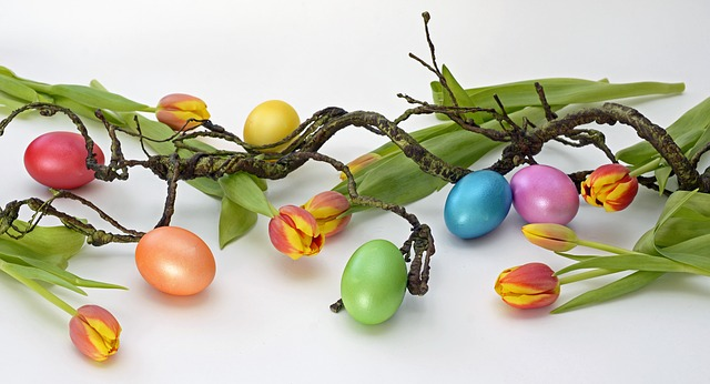Easter Eggs and Flowers in Moose Jaw